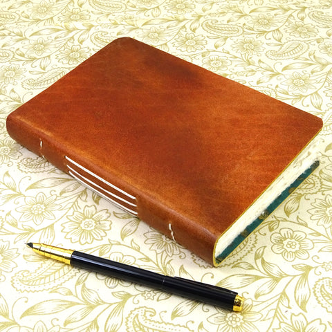 Leather Journal With Lokta Lining, Diary, Notebook, Gift, Real, Rustic