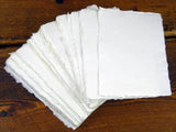 A6 White Cotton Rag Artist Paper, 150GSM, for Watercolour, Painting, Drawing, Pack of 100