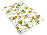 A4 'Green and Gold Bird' Design, Sketchbook Journal with Cartridge Paper