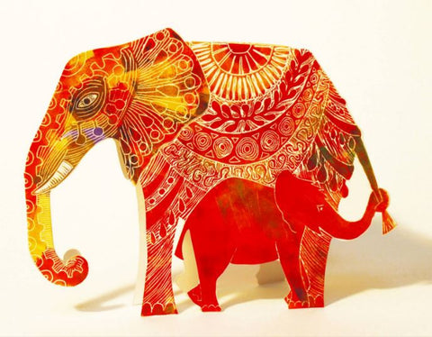 3D Greetings Card 'Elephant'
