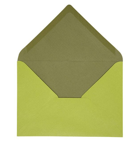C6 Envelopes in Green, pack of 10