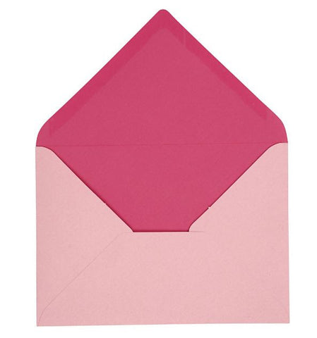 C6 Envelopes in Pink, pack of 10
