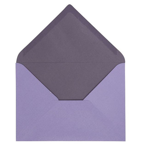C6 Envelopes in Purple, pack of 10