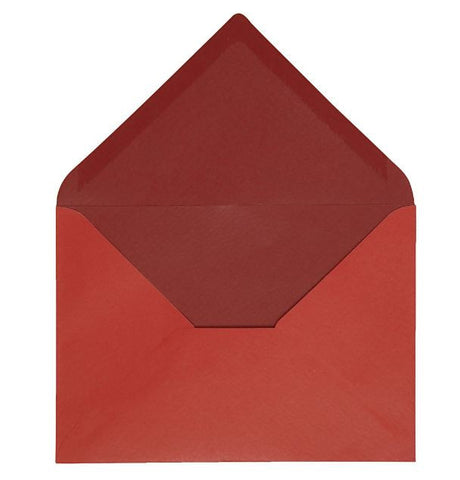 C6 Envelopes in Red, pack of 10