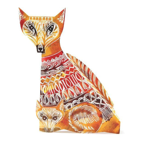 3D Greetings Card 'Fox'