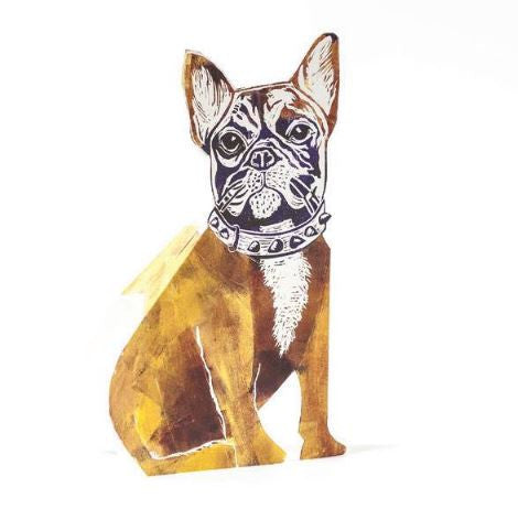 3D Greetings Card 'French Bulldog'