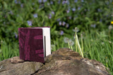 6x6 Pink Lokta Covered Journal made with Handmade Paper