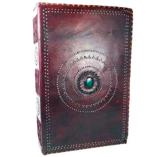 GIANT Leather 'Family' Journal with stone centre, 35cmx55cmx14cm