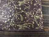 Gold Paisley on Chocolate Brown Lokta Paper Sheet Handmade Gift Wrap