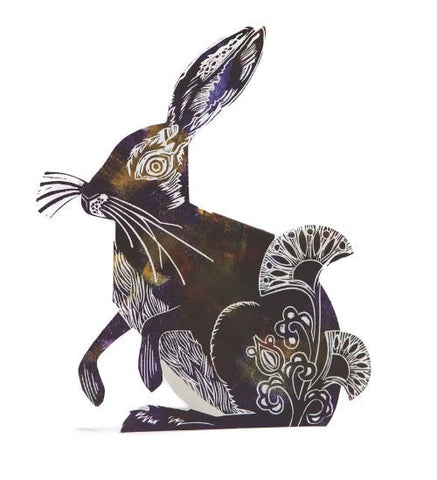 3D Greetings Card 'Hare'