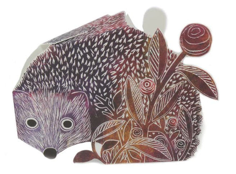 3D Greetings Card 'Hedgehog'
