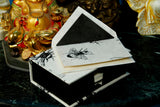 Card Gift Set and Box, 15 Cards 15 Envelopes, Honey Bee Design, Letter Writing, Handmade
