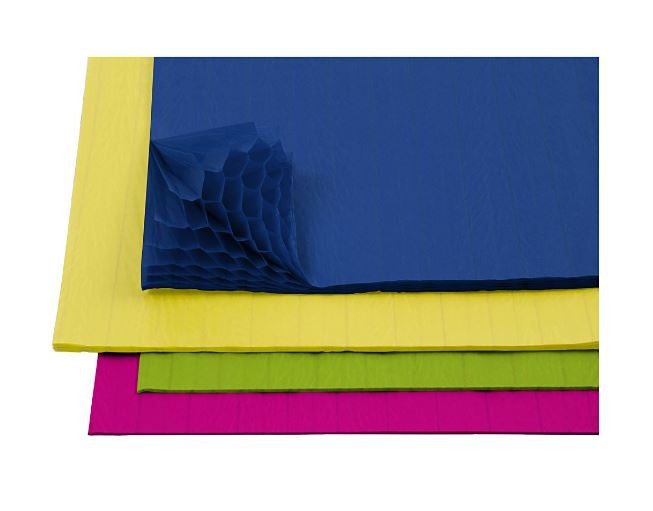 Honeycomb Paper in Neon Colours, pack of 8