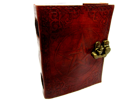 Leather Journal with Embossed Star