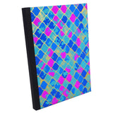 Jali Latticed Blue Pink Gold, Notebook Sketchbook Bullet Journal, A5 Perfect Bound, Optional Inside Pages, Handmade