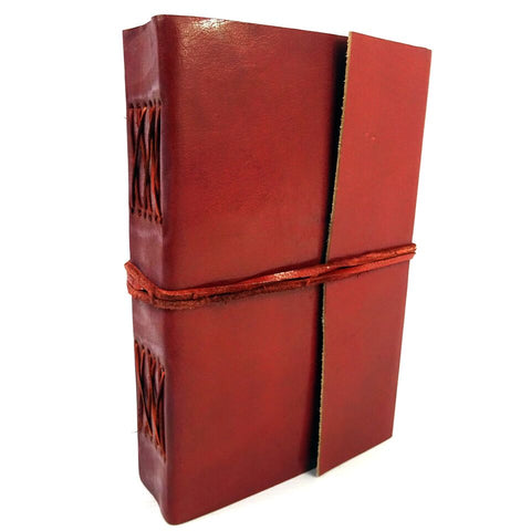 Plain Leather Bound Journal/Notebook, with Cotton Rag Paper Pages