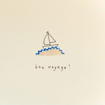 Pencil Shaving Card, 'Bon Voyage'