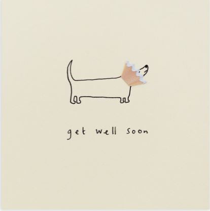 Pencil Shaving Card, Get Well Soon