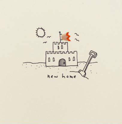 Pencil Shaving Card, New Home Castle
