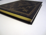 17th Century French Style Journal Notebook in Black and Gold