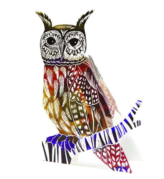 3D Greetings Card 'Owl'