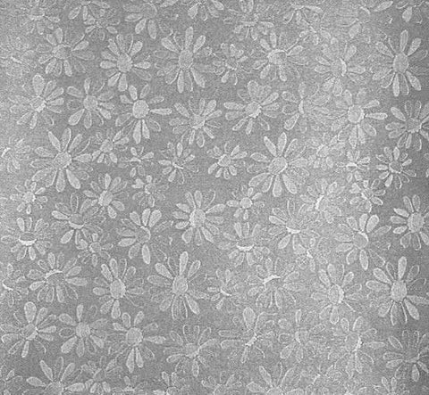 A4 Pearlescent Floral Paper in Silver, pack of 10