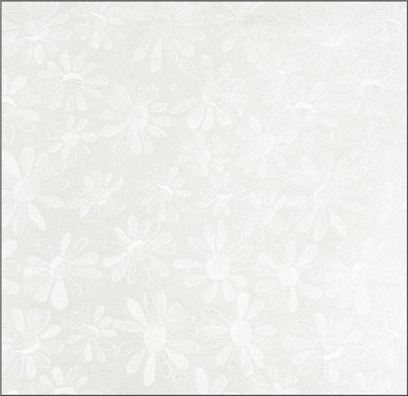 A4 Pearlescent Floral Paper in White, pack of 10