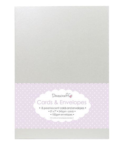 "5""x7"" Pearlescent Cards & Envelopes, Set of 8"