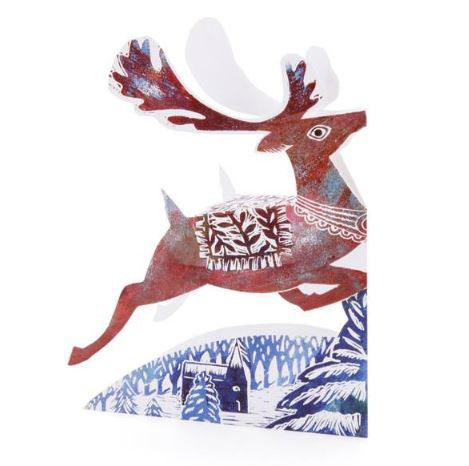 3D Greetings Card 'Reindeer'