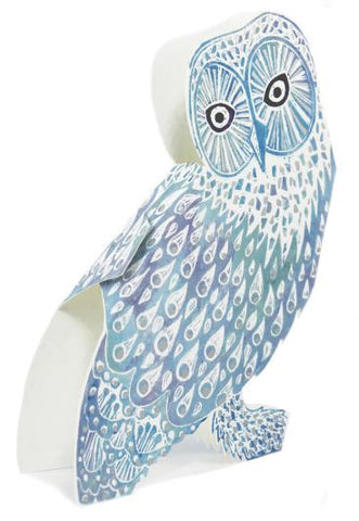 3D Greetings Card 'Snowy Owl'