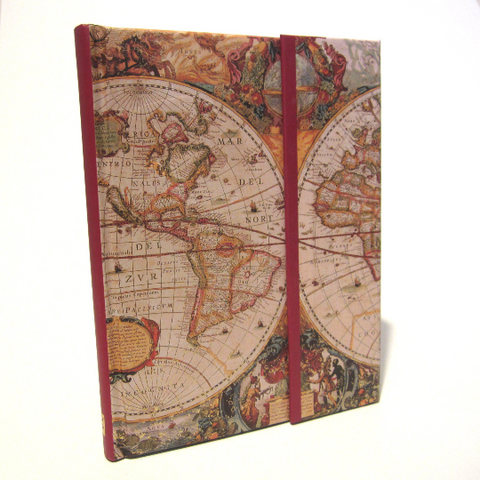 'Old World' Travel Journal Notebook with Magnetic Casing