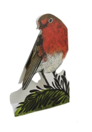 3D Greetings Card 'Garden Robin'