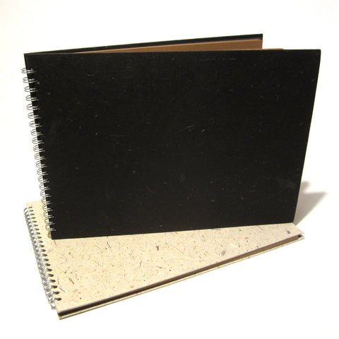 A3 Kraft Scrapbook, Photo Album, Guestbook, Natural/Black Fibre Covers, Vintage