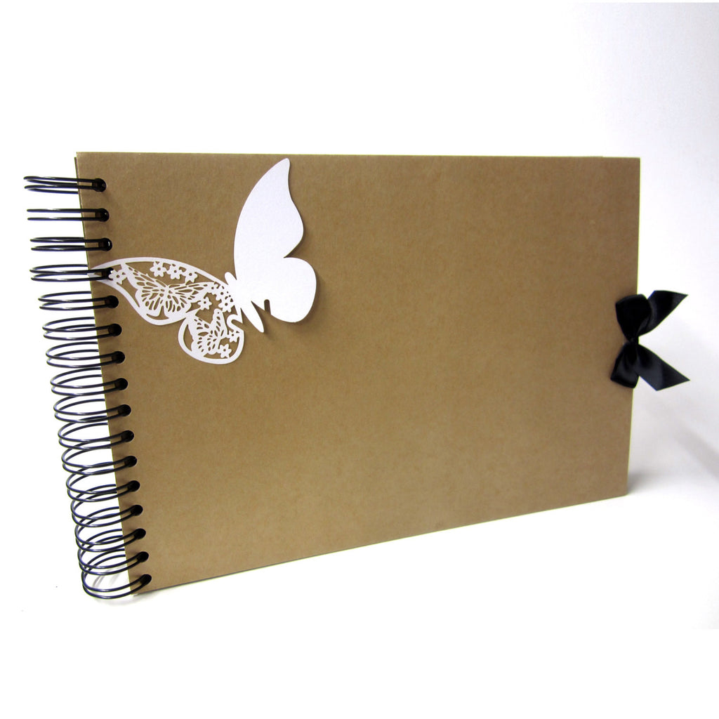 A4 Butterfly Scrapbook, Photo Album, Guestbook, Memory Keepsake, Blank Crafting