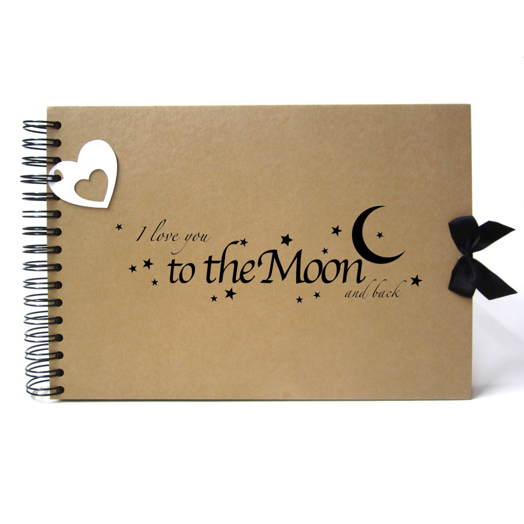 Scrapbook, A5 A4 I Love You to the Moon and Back, Card Pages, Photo Album, Gift