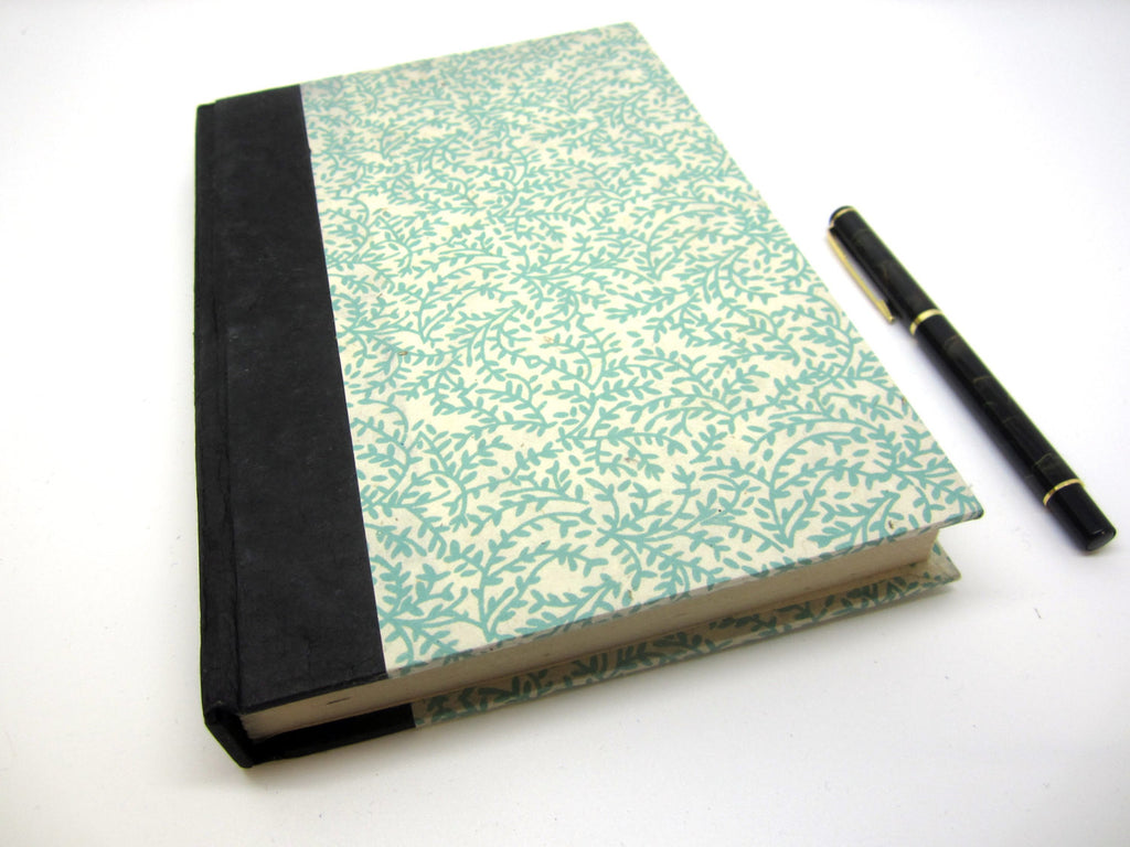 Handmade Natural Journal, Lokta Pages, High Quality Traditional Notebook, Large 6x9""
