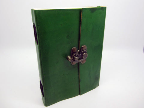 Dark Green Leather Journal Diary, Notebook, Real Leather, Cotton Pages, A5