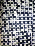 Black Cream Chequered Handmade Batik Waxed Lokta Paper Sheet, for Gift Wrap, 50x75cm