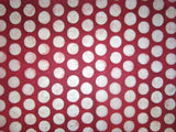 Red Cream Polka Dots Design, Handmade Batik Waxed Lokta Paper Sheet, Gift Wrap 50x75cm