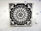 Wood Block Print Stamp, Mandala Flower Design, Mango Wood, Handmade, Indian,