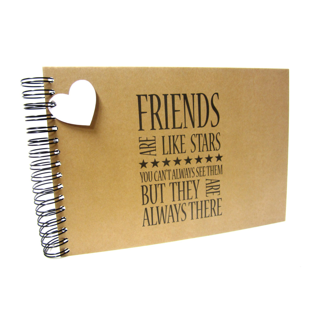 A3/A4/A5/Square, Friends are like Stars Scrapbook, Landscape, Card Pages, Photo Album, Keepsake, Best Friends