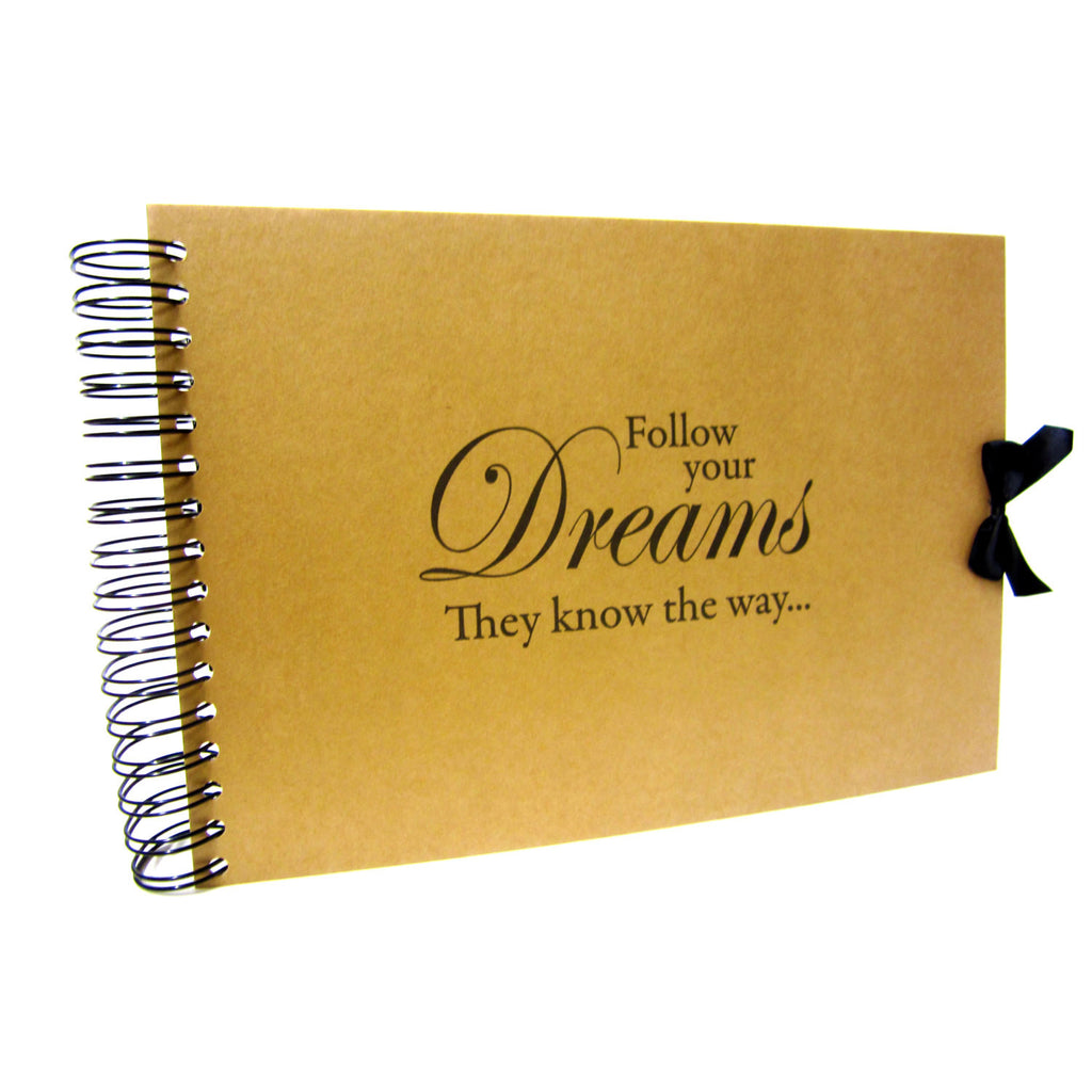 A5 A4, Follow Your Dreams Scrapbook, Landscape, Card Pages, Photo Album, Keepsake,