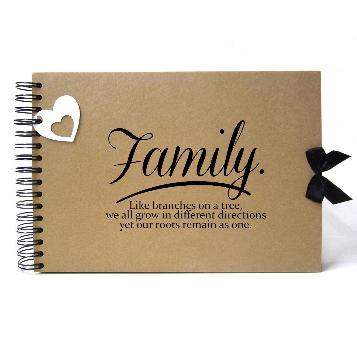 Family Quote Scrapbook A5 A4 Family Quote Landscape Card Pages Photo Album