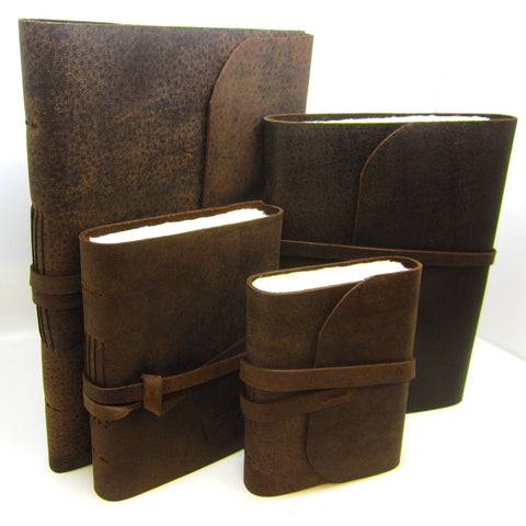 Buffalo Real Leather Journal, Notebook, Scrapbook, Travel Journal, Natural Lokta pages