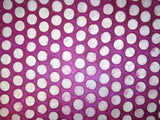 Pink Polka Dots Design, Handmade Batik Waxed Lokta Paper Sheet, for Gift Wrap, Collage, Scrapbooking 50x75cm