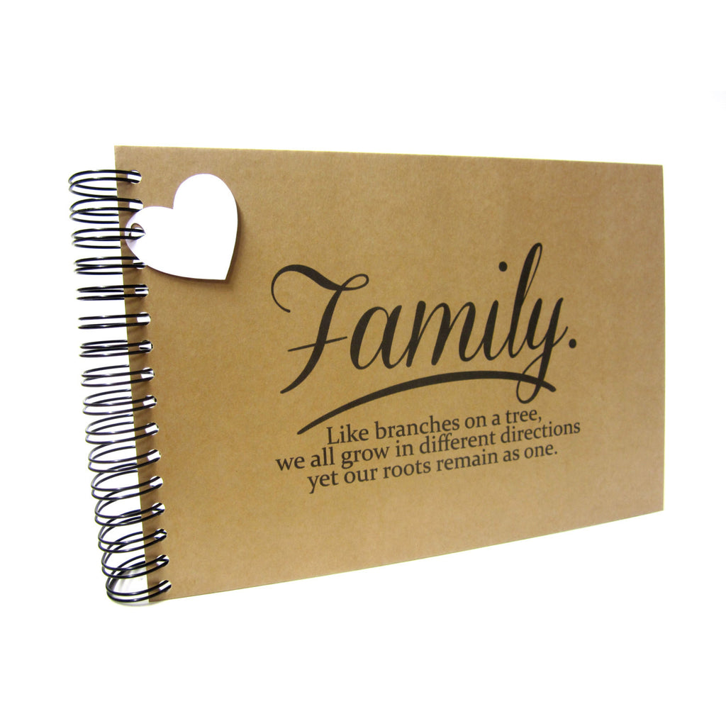 A3/A4/A5/Square, Family Roots Scrapbook, Landscape, Card Pages, Photo Album, Keepsake