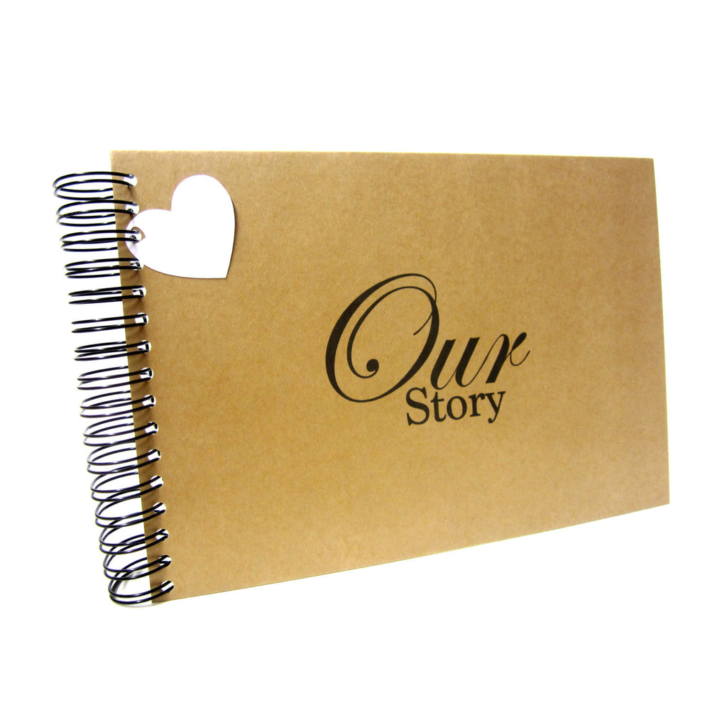 A3/A4/A5/Square, Our Story Scrapbook, Landscape, Card Pages, Photo Album, Keepsake