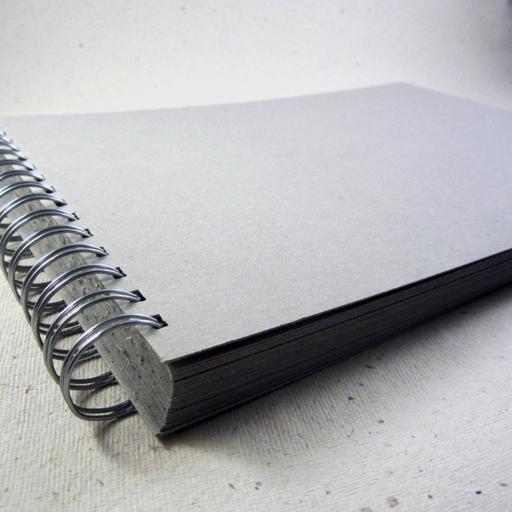 Grey Hard Board Scrapbook, 50 Pages, Thick Board, Blank Guest Book, DIY, A4/A5