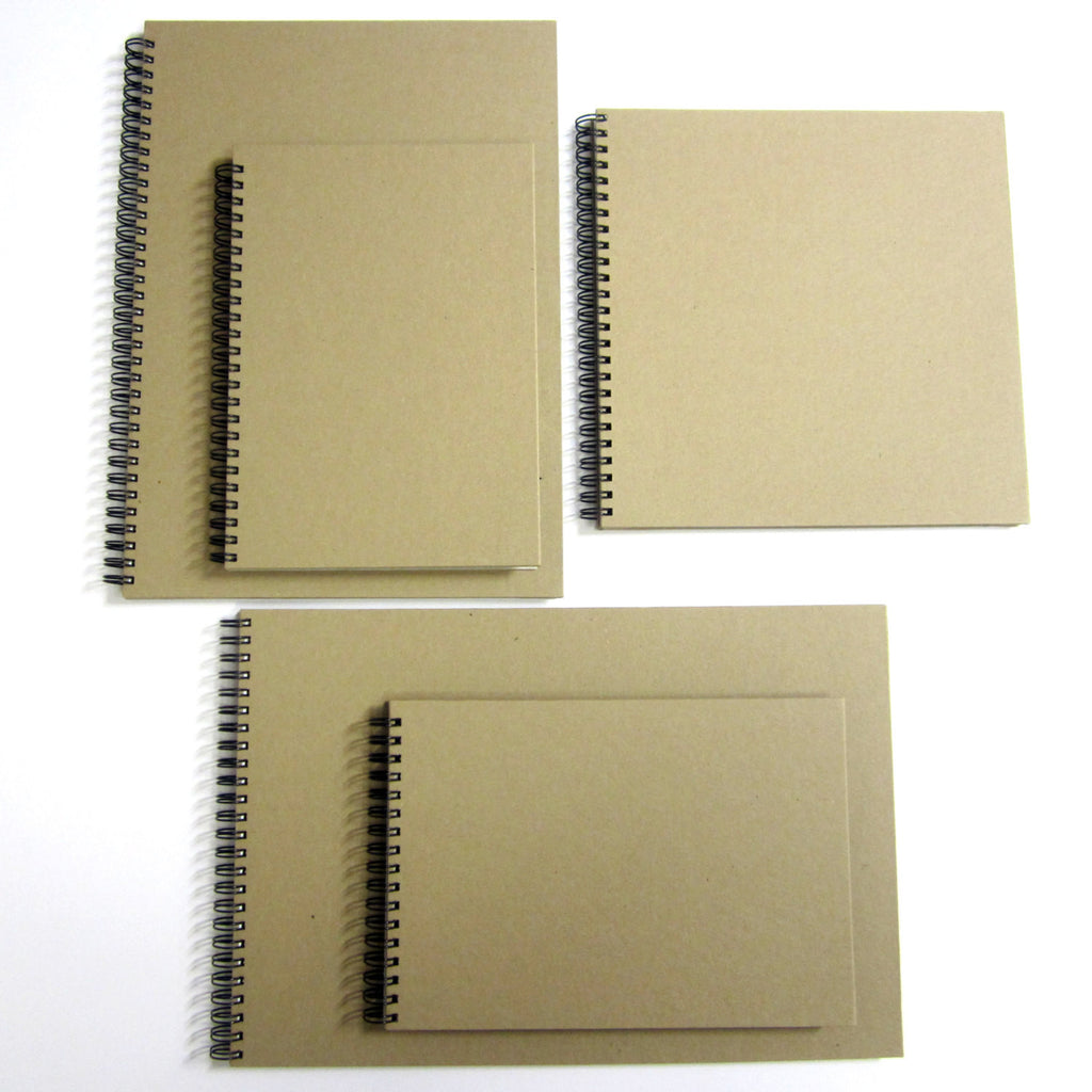 Blank A4/A5/Square Scrapbook, Landscape, Kraft, Card Pages, Guestbook