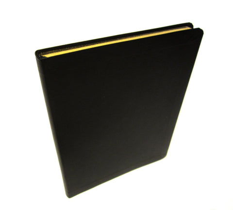 Premium Black Leather Journal, Notebook, Diary, Acid Free, 190 Lined Pages, Musings
